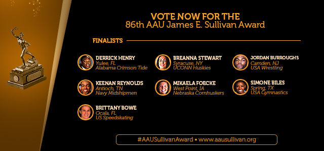 Elite Class of Seven Finalists Announced for Prestigious 86th AAU James E. Sullivan Award